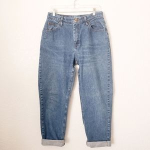 Vintage Riders High Rise Distressed Tapered Jeans